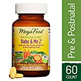 MegaFood – Baby & Me 2, Twice Daily Prenatal and Postnatal Supplement to Support Healthy Pregnancy, Development, and Bones for Mother and Child, Herb-Free, Vegetarian, Gluten-Free, Non-GMO, 60 Tablets