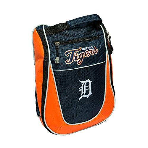 (Team Golf MLB Detroit Tigers Travel Golf Shoe Bag, Reduce Smells, Extra Pocket for Storage, Carry)