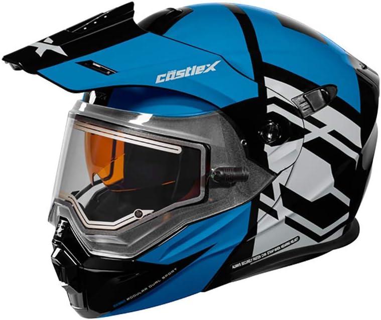 Castle X EXO-CX950 Hex Modular Electric Snowmobile Helmet in Process Blue/Black Size 3XL