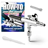 PointZero Dual-Action 2cc Gravity-Feed Airbrush Set - 0.2mm...