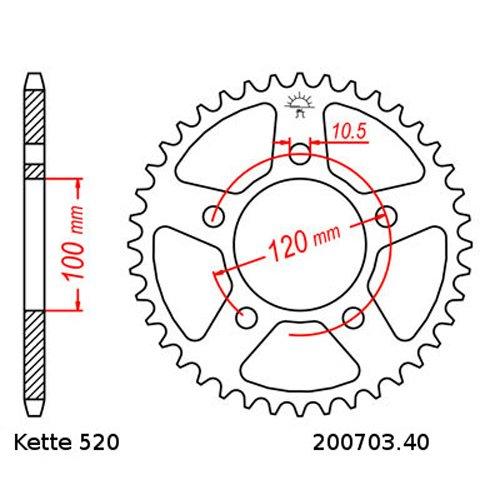 Kette RK 520H 110 17// Kettensatz Aprilia RS 125 Extrema Replica 04-13 offen