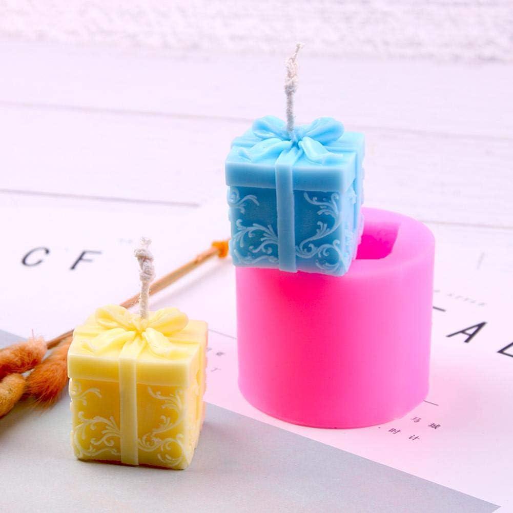 Ardentity Kerzenform Silikon Silikonform Weihnachtsgeschenk-Box Kerzenform Zum Gie/ßen f/ür Kerze Fondant Seife Formen