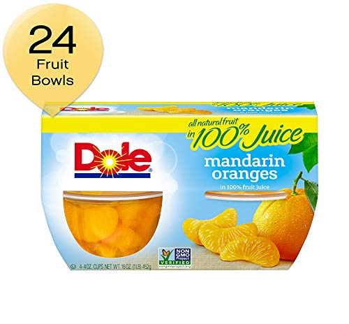 Dole Fruit Bowls, Mandarin Oranges in 100% Juice, 16 Oz, Pack of 6