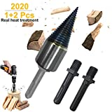 Deartisan Firewood Splitter Screw, Speed Wood Drill bit Upgraded Cone Kindling Firewood Log Splitter for Hand Drill Stick Copper