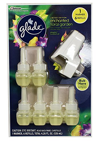 Glade Plugins Enchanted Floral Garden 6 Refills and 1 Warmer