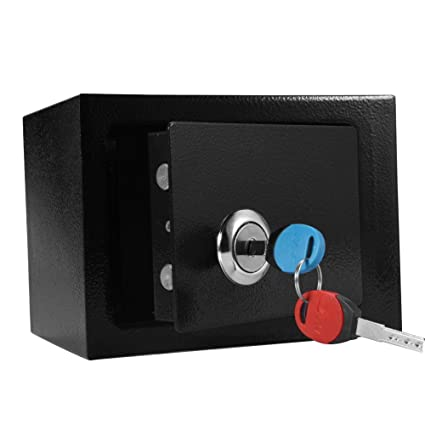 Cajas Fuertes, Caja de Seguridad de Llave de Acero para Oficina o Uso Doméstico,