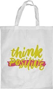Printed Shopping bag, Medium Size, think positive