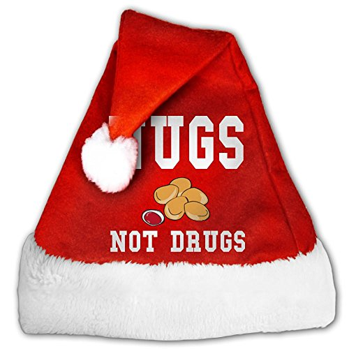 Little Petman Christmas Holiday Hat Nugs Not Drugs Merry Christmas Hat Christmas Santa Claus Hat Party Supplies For Kids And Adults Red