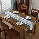 kaige table runners American Country table flag cotton Linen TV cabinet table cloth
