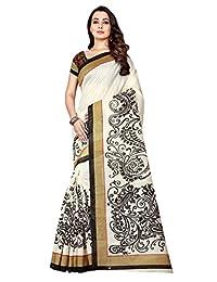 Shonaya Women`S Bhagalpuri Silk Woven Work Saree with Unstitched Blouse Piece
