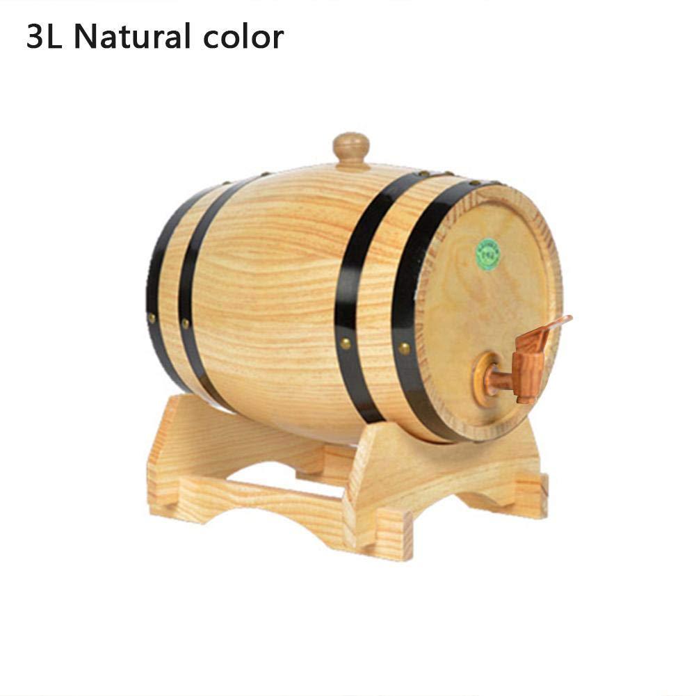 3 L Tonneaux /à bi/ère Tonneaux Wine Spirit Baril de Stockage de Whisky avec Robinet gaeruite Tonneau /à vin en ch/êne 1,5 L