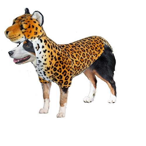 Amazing Pet Products 54960 Brown Leopard Wannabe Dog Coat, Large -