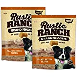 Rustic Ranch Grand Nuggets Peanut Butter Flavor Dog Treats Pack of 2-10oz Combo Pack