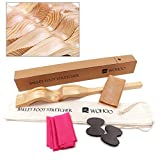 Tdogs Ballet Foot Stretcher Detachable Wood Arch Gymnastics Equipment Dance Elastic Stretch Band for Ballet, Dance, Gymnastics, Cheer, Yoga