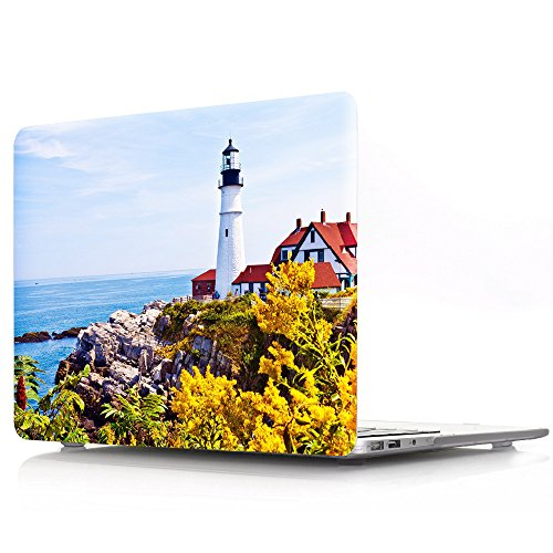 IVY Pro 13 Hard Shell Case with Keyboard Cover for Old MacBook Pro 13 Inch with CD-ROM (Models: A1278),Lighthouse (Macbook Pro Case Lighthouse)