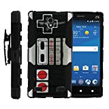 Cheap MINITURTLE Case Compatible with ZTE ZMAX 2, Holster Case [Clip Armor]- Premium Defender Case Hard Shell Silicone Interior with Kickstand & Holster – Game Controller