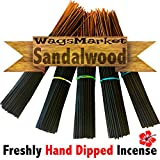 WagsMarket Premium Hand Dipped Incense Sticks, You choose the Scent. 100 – 12in Sticks. (Sandalwood)