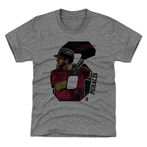 500 LEVEL Arizona Baseball Youth Shirt - Kids Medium (8Y) Tri Gray - David Peralta Offset R (Diamondbacks Arizona Shirt Classic)