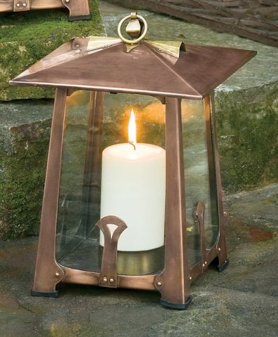Potter Craftsman Candle Lantern Large