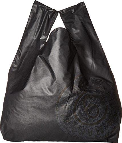MM6 Maison Margiela Women's Nylon Logo Shopper Black One - Logo Maison Margiela