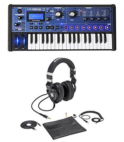 - Novation MiniNova 37-Key USB Keyboard Synthesizer+Samson Lambskin Headphones