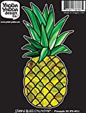 "PS-401 - Pineapple Stained Glass Style - Peel and Stick Vinyl Decal - Copyright 2015YYDC (2.75""w x 5.75""h)"