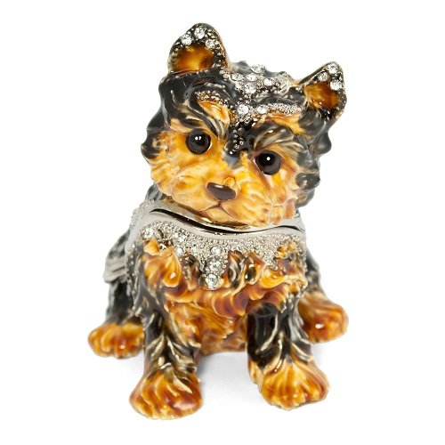 Dog Hinged Trinket Box - Welforth Yorkshire Terrier Trinket Box Model No. J-377
