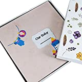 Cloth embroidery self-adhesive film-coated baby growth diy manual album / baby growth album / pregnant diary (32 33 3cm) ( Color : A2 )