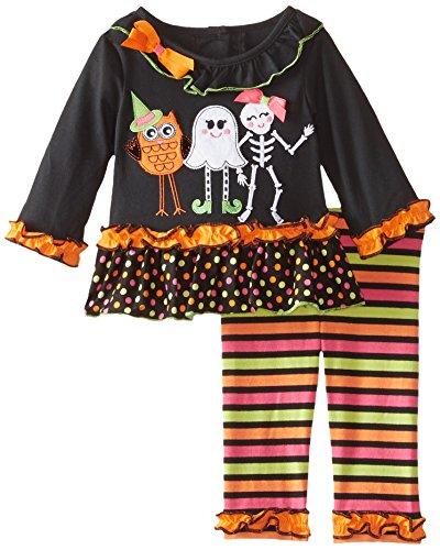 Rare Editions Baby Baby-Girls' Halloween Applique Legging Set,