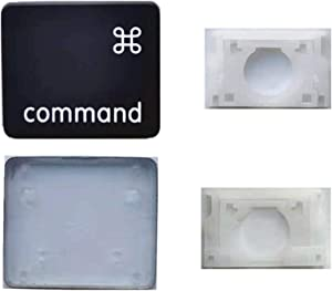Replacement Individual AP08 Type Left Command Key Cap and Hinges for MacBook Pro Model A1425 A1502 A1398 for MacBook Air Model A1369/A1466 Keyboard to Replace The Left Command Key Cap and Hinge