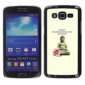 Impact Case Cover with Art Pattern Designs FOR Samsung Galaxy Grand 2 Buddha Lotus Flower Meditation Quote Betty shop