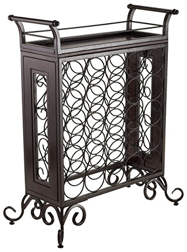 - Winsome Wood Antique Bronze Finish Silvano Wine Rack