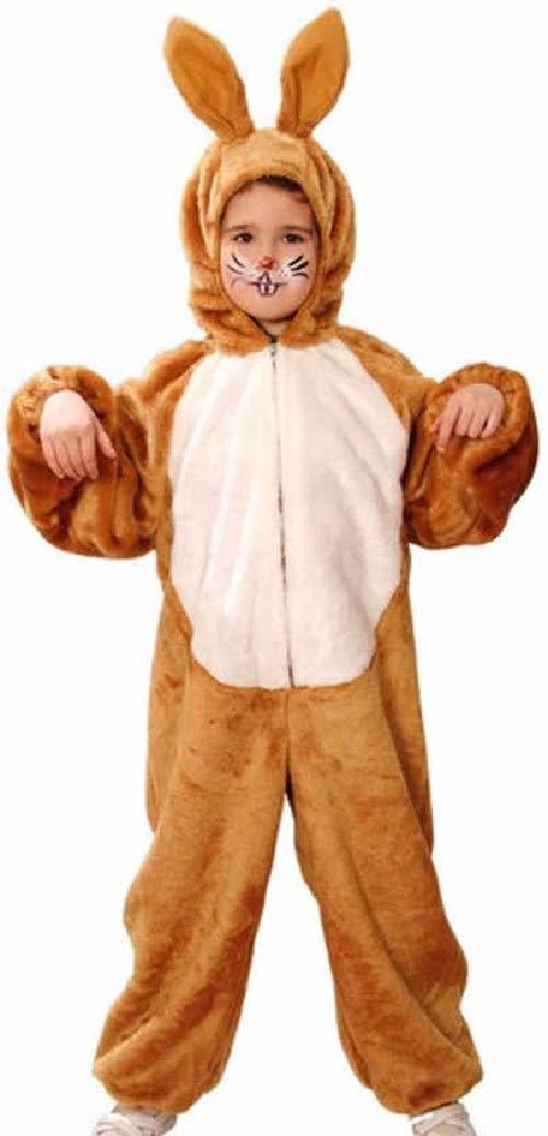 Fancy Me Costume da Coniglietto di Peluche, per Ragazzi e Ragazze, colore  Marronee