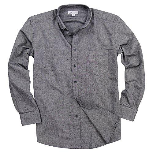 - Men's 100% Cotton Long Sleeve Button Down Collar Oxford Shirt (Oxford Black, Regular Fit: XX-Large)