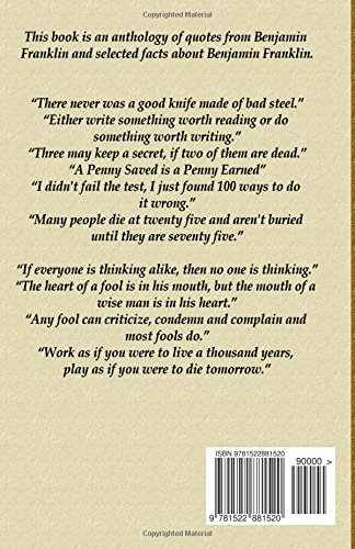 Benjamin Franklin Quotes Facts Blago Kirov 9781522881520