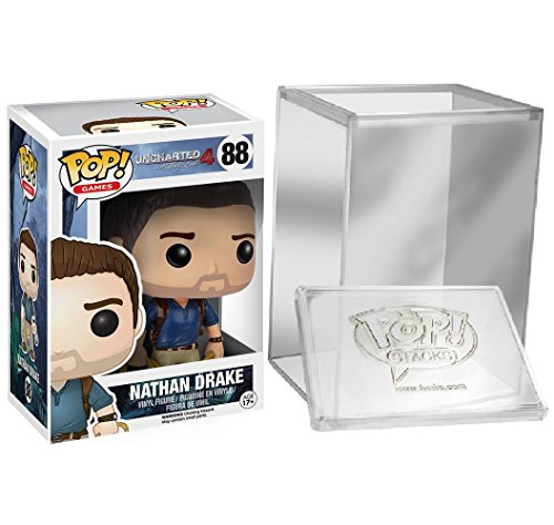 Funko Pop Games: Uncharted 4 A Thief's End- Nathan Drake + FUNKO PROTECTIVE CASE