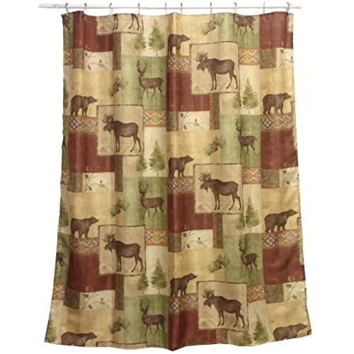 Bacova Guild Mountain Lodge Fabric Shower Curtain