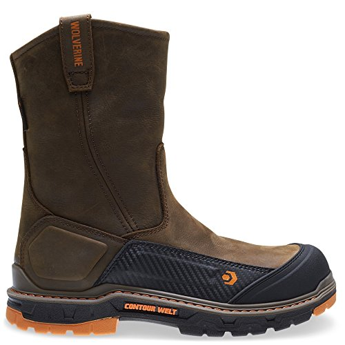 Wolverine Overpass CarbonMax Wellington Boot Men 11 - Brown