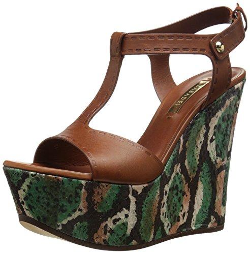 Casadei Women's Safari Platform Wedge, Brown/Multi 38.5 EU/8.5 M US
