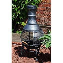 Small Cast Iron Chimenea BBQ by Greenhouse Warehouse