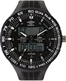 UMBRO UMB-04-3 Unisex ABS Black Band, ABS Bezel 52mm Case Digital MIYOTA AL35 SR626Sw Electronic Precision Movement Water Resistant 5 ATM Sport Watch