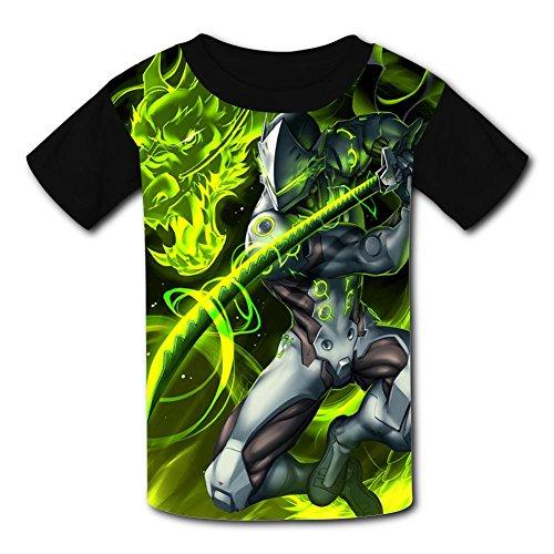 Dragon Warrior_Genji Youth Tees Shirts 3D Print Kids -