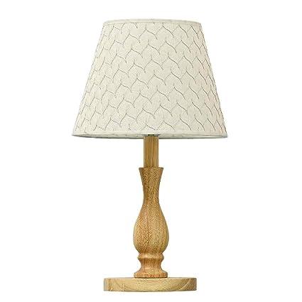 HLHHL-Lamp LáMpara De Mesa Simple De Madera Mesitas De Noche ...