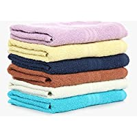 Bombay Dyeing Cotton 40x60 Cms Hand Towel Set - Blue Ivory (Set of 4)