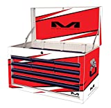 Matrix Concepts M80 802 M80 Race Series White/Red 8 Drawer Tool Box with Bolt Graphic Kit