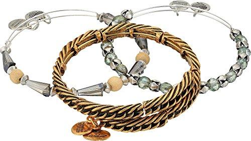 Alex and Ani Women's Eve Bracelet Set of 3 Gold Bracelet