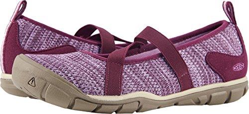 KEEN Women's Hush Knit MJ-W Hiking Shoe, Grape Wine/Lavender Herb, 10 M US