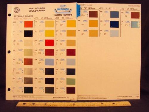 (1980 80 VOLKSWAGEN / VW, Dasher, Jetta, Rabbit, Scirocco, Truck, & Van Paint Colors Chip Page)