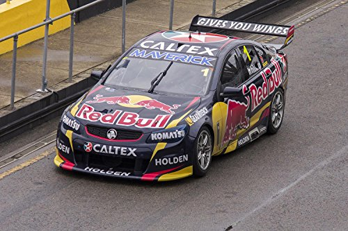 (Gifts Delight Laminated 27x18 Poster: Jamie Whincup in Red Bull Racing Australia car 1, Departing pitlane During The V8 Supercars Test Day)