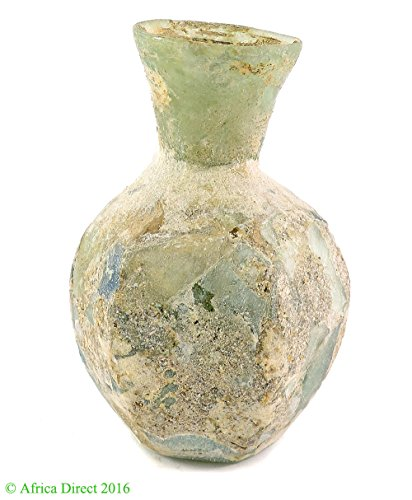 Africa Direct Ancient Roman Glass Vase 3.25 Inch